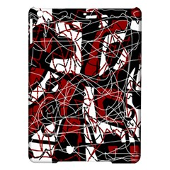 Red black and white abstract high art iPad Air Hardshell Cases