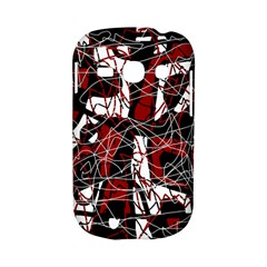 Red black and white abstract high art Samsung Galaxy S6810 Hardshell Case