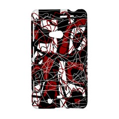 Red black and white abstract high art Nokia Lumia 625