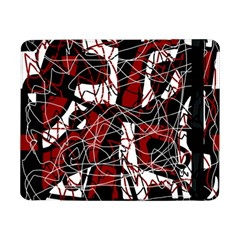 Red black and white abstract high art Samsung Galaxy Tab Pro 8.4  Flip Case