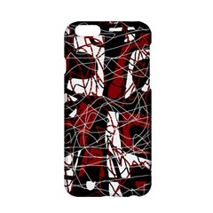 Red black and white abstract high art Apple iPhone 6/6S Hardshell Case