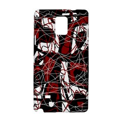 Red black and white abstract high art Samsung Galaxy Note 4 Hardshell Case
