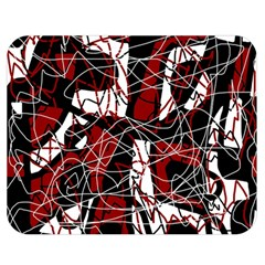 Red black and white abstract high art Double Sided Flano Blanket (Medium)