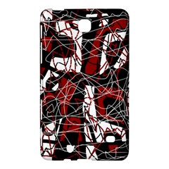 Red black and white abstract high art Samsung Galaxy Tab 4 (8 ) Hardshell Case