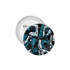Blue, black and white abstract art 1.75  Buttons