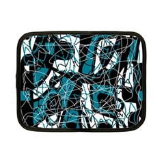 Blue, black and white abstract art Netbook Case (Small)