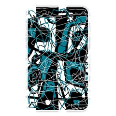 Blue, black and white abstract art Memory Card Reader