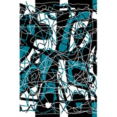 Blue, black and white abstract art 5.5  x 8.5  Notebooks