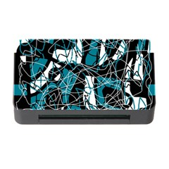 Blue, black and white abstract art Memory Card Reader with CF