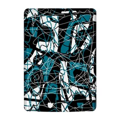 Blue, black and white abstract art Kindle 4