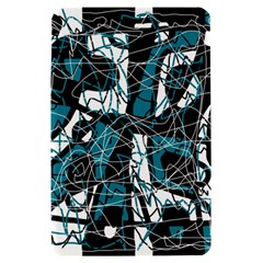 Blue, black and white abstract art Kindle Fire (1st Gen) Hardshell Case