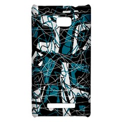 Blue, black and white abstract art HTC 8X