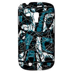Blue, black and white abstract art Samsung Galaxy S3 MINI I8190 Hardshell Case
