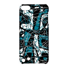 Blue, black and white abstract art Apple iPod Touch 5 Hardshell Case with Stand