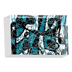 Blue, black and white abstract art 4 x 6  Acrylic Photo Blocks