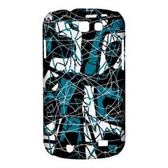 Blue, black and white abstract art Samsung Galaxy Express I8730 Hardshell Case
