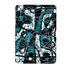 Blue, black and white abstract art Samsung Galaxy Tab 2 (10.1 ) P5100 Hardshell Case