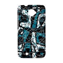Blue, black and white abstract art HTC Desire 601 Hardshell Case