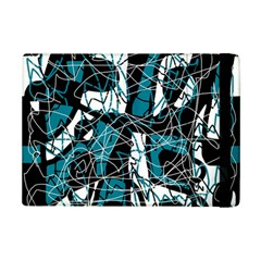 Blue, black and white abstract art iPad Mini 2 Flip Cases