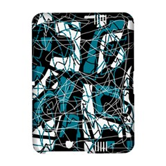 Blue, black and white abstract art Amazon Kindle Fire (2012) Hardshell Case
