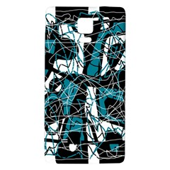 Blue, black and white abstract art Galaxy Note 4 Back Case