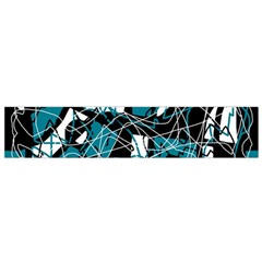 Blue, black and white abstract art Flano Scarf (Small)
