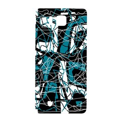 Blue, black and white abstract art Samsung Galaxy Alpha Hardshell Back Case
