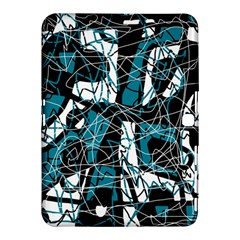 Blue, black and white abstract art Samsung Galaxy Tab 4 (10.1 ) Hardshell Case