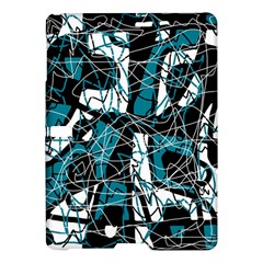 Blue, black and white abstract art Samsung Galaxy Tab S (10.5 ) Hardshell Case