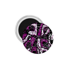 Purple, white, black abstract art 1.75  Magnets
