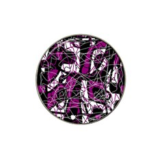 Purple, white, black abstract art Hat Clip Ball Marker (10 pack)