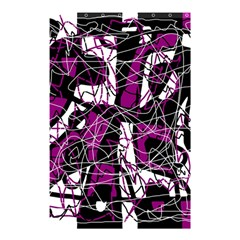 Purple, white, black abstract art Shower Curtain 48  x 72  (Small)
