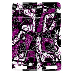 Purple, white, black abstract art Kindle Touch 3G