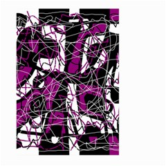 Purple, white, black abstract art Large Garden Flag (Two Sides)