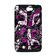 Purple, white, black abstract art Samsung Galaxy Note 2 Hardshell Case (PC+Silicone)