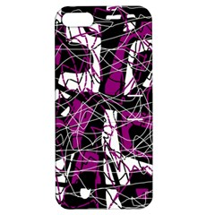Purple, white, black abstract art Apple iPhone 5 Hardshell Case with Stand