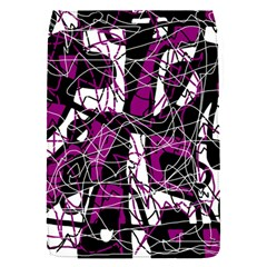 Purple, white, black abstract art Flap Covers (S)