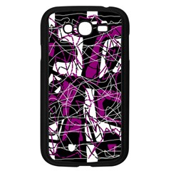 Purple, white, black abstract art Samsung Galaxy Grand DUOS I9082 Case (Black)