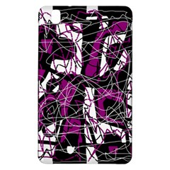 Purple, white, black abstract art Samsung Galaxy Tab Pro 8.4 Hardshell Case