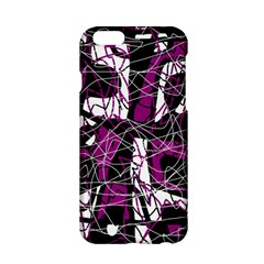 Purple, white, black abstract art Apple iPhone 6/6S Hardshell Case