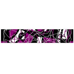 Purple, white, black abstract art Flano Scarf (Large)