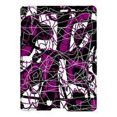 Purple, white, black abstract art Samsung Galaxy Tab S (10.5 ) Hardshell Case