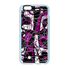 Purple, white, black abstract art Apple Seamless iPhone 6/6S Case (Color)