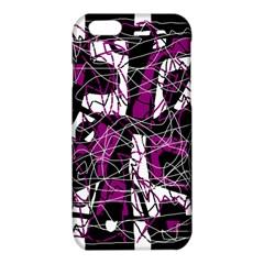 Purple, white, black abstract art iPhone 6/6S TPU Case