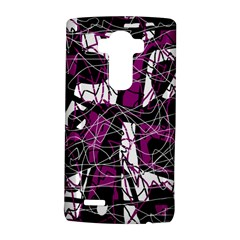 Purple, white, black abstract art LG G4 Hardshell Case