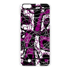 Purple, white, black abstract art Apple Seamless iPhone 6 Plus/6S Plus Case (Transparent)