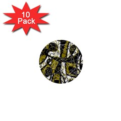 Brown abstract art 1  Mini Buttons (10 pack)