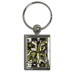 Brown abstract art Key Chains (Rectangle)