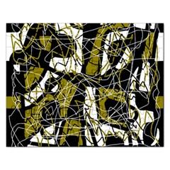Brown abstract art Rectangular Jigsaw Puzzl