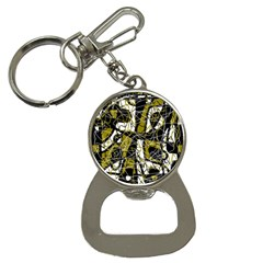 Brown abstract art Bottle Opener Key Chains